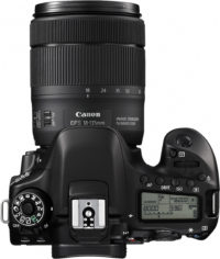 Canon 80D 18-135 mm Lens Kit Top