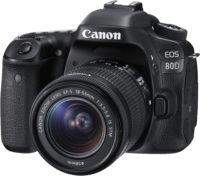 Canon 80D 18-55 mm Lens Kit Front Slant