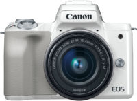 Canon M50 White15-45 mm Lens Kit Front